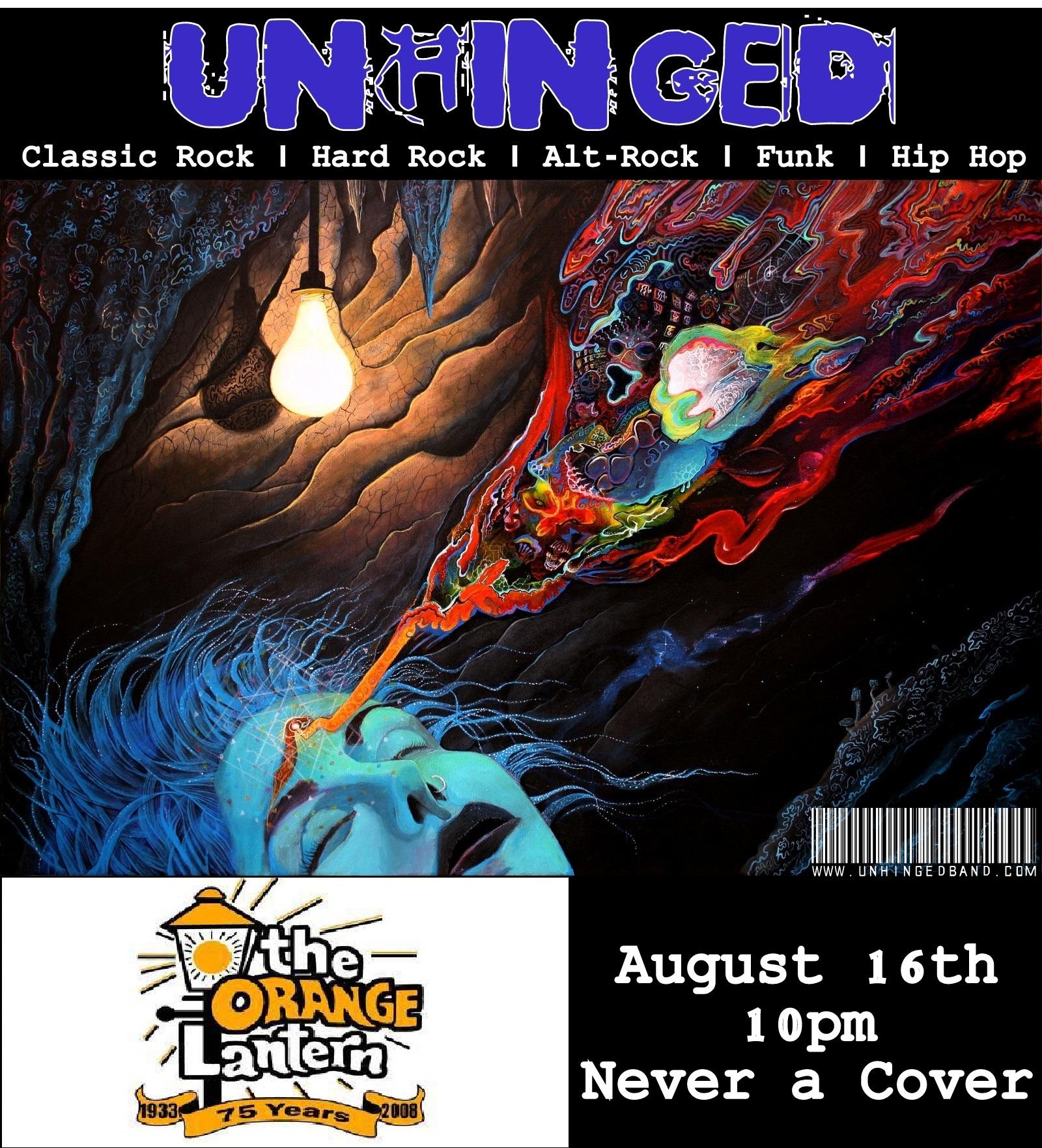 Live at The Orange Lantern   August 16th   10pm